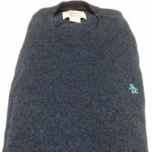 Penguin Men's Crewneck Sweater Blue sz LARGE 🔥